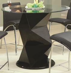 120808 - Ophelia Contemporary Glass Top Counter Height Table with Zigzag Pedestal | *buy, sell, trade, Furniture @ Barter Post SALE Price $