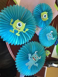 Baby Shower Boy Theme Monsters Inc 47 Ideas Monster Party, Monster 1st Birthdays, Monster Birthday Parties, Baby Shower Decorations For Boys, Boy Baby Shower Themes, Baby Boy Shower, Monsters Inc Baby Shower, Monster Baby Showers, Decoracion Baby Shower Niña