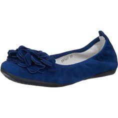 Diese Andrea Conti Ballerinas sind eine Wohltat für Fuß und Auge. Das Obermaterial besteht aus geschmeidigem Veloursleder und wird an der Schuhspitze durch eine blütenförmige Applikation geziert. Dazu sorgen sowohl der praktische Gummizug als auch die weiche Innenverarbeitung für einen bequem gebetteten Fuß.  Obermaterial: Leder (Veloursleder) Futter: Leder Decksohle: Leder Laufsohle: Sonstiges...