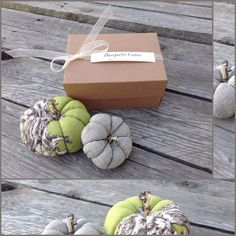 Duo de Citrouilles en lin et toile de jouy parfum cèdre : Accessoires de maison par barege-coton