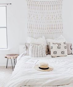 bright and bohemian bedroom