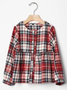 Plaid ruffle shirt Product Image