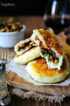 Vegan Potato Cakes stuffed with Mushrooms — Imagelicious