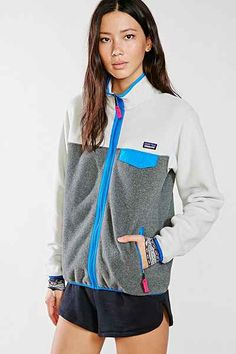Patagonia Grey Full-Zip Snap-T Jacket - Urban Outfitters
