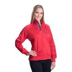fc79908919b NHL Levelwear Montreal Canadiens Women s Venture Full Zip Jacket - Red  Montreal Canadiens