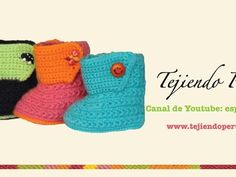 Botitas tejidas en crochet para bebe de 0 a 3 meses (Parte 1: suela)