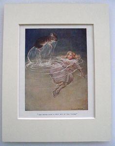 ORIGINAL 1928 Alice in Wonderland print by MargaretTarrantPrint, £9.99