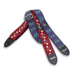 Eric Johnson Signature Straps - Red with Multi-Color Pattern