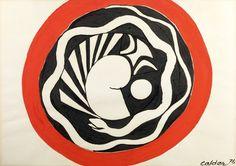 Alexander CALDER (1898-1976) Nidation  Gouache et encre Signée en bas à droite et datée (19)76. 75 x 106,5cm. Titrée au dos et numéro de référence. Provenance: Galerie Maeght. Nidation, gouache and ink… - Expertisez.com - 29/01/2016