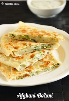 bolani - afghani potato stuffed flatbread