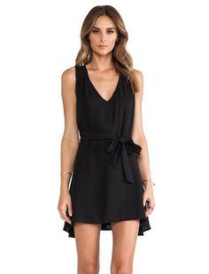 2bd9c6986 Shop for Donna Mizani Side Tie Flounce Dress in Caviar at REVOLVE.