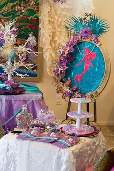 Little Mermaid Under the Sea Birthday Party with Such Gorgeous Ideas via Kara's Party Ideas | Cake, decor, favors, games, and more! KarasPartyIdeas.com #thelittlemermaid #undertheseaparty #littlemermaidparty #partyideas #eventplanning #partyplanner #partydesign (48)