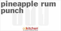 Pineapple Rum Punch from CDKitchen.com