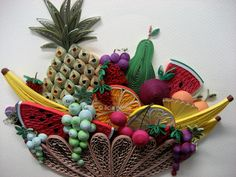 Quiilled fruit basket by Licia Politis