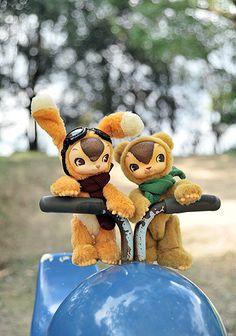 ToysField  USAGI & KUMA by warusoneko, via Flickr