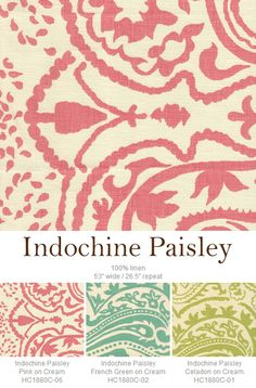 Indochine Paisley. New from Home Couture.