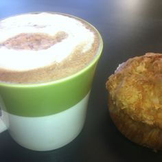 Starting my day at Madalyn's Coffee & Tea with a Black Cherry Latte & Apple Crumble Muffin. Stop in for yours today