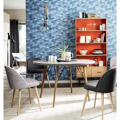 This space uses a great mix of shape and colour to create a really strikign space.