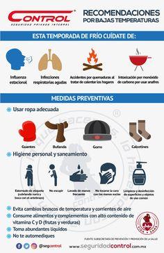 Compartimos algunas recomendaciones para evitar enfermedades en esta epoca de invierno. #Invierno #Salud #BajasTemperaturas #Frío #VidaSana #ControlSeguridad Cold, Healthy Life, Activities For Kids, Seasons, Exercises, Winter, Health