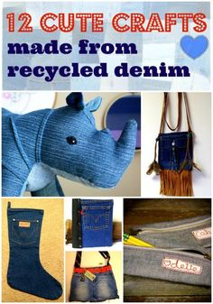 12 Cutest Crafts Made From Recycled Jeans | eBay