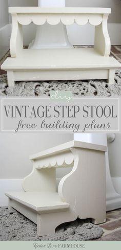 DIY Vintage Step Stool | Free Building Plans