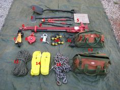 "M101 Series Tools- 1: D-handled shovel  2: Flat head axe  3: Bolt cutters  4: Wrecking bar  5: Plywood base  6: Hi-Lift Jack  7: Hi-Lift Helper  8:Snatch block  9: Receiver Shackle  10: 3/4"" Shackles  11: Winch remote  12: Bucket Boss canvas cargo bags  13: Rope (Just watch Boondocks Saints if you need to know why) 14: (2) 3"" x 20ft snatch straps  15: 3/8"" x 20ft transport chain."