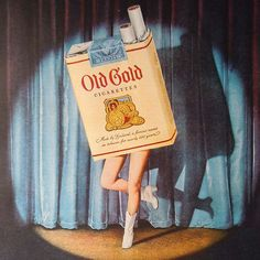 """Cathy Harris If you're of """"a certain age"""", you'll remember cigarette ads on tv (and in magazines) with """"dancing products"""". Vintage Cigarette Ads, Vintage Ads, Vintage Posters, Vintage Prints, Vintage Photos, Cigarette Box, Vintage Branding, 1950s Advertising, Old Advertisements"""