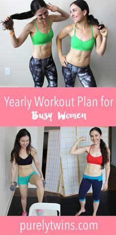 12 months of workout schedules so you can get in shape in the convenience of your home. Get in the best shape of your life working out in under 30 minutes a day. Work out whenever wherever! Busy girls home workout plan.
