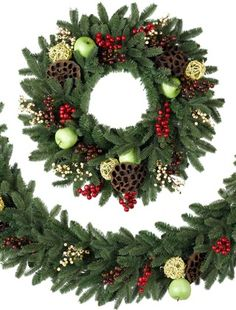 Cranbrook Orchard Artificial Christmas Wreath And Garland | Balsam Hill