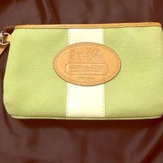 Coach Hampton Archive 10th Anniversary purse Limited Edition Coach Hampton Archive 10th Anniversary Canvas Vachetta Bag Purse Clutch Wristlet. Coach Bags Clutches & Wristlets