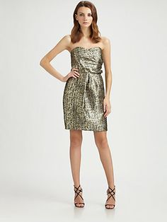 Shoshanna - Sylvie Byzantine Metallic Dress - Saks.com