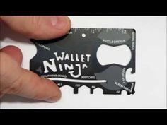 Wallet Ninja Pocket Tool http://rethinksurvival.com/wallet-ninja-pocket-tool-video/