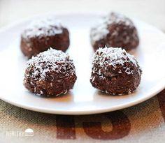 No-Bake Coconut Brownie Bites