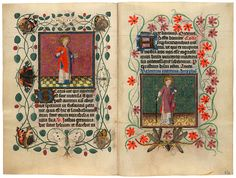 The Morgan Library & Museum Online Exhibitions - Demons and Devotion: The Hours of Catherine of Cleves - St. Vincent, St. Valentine