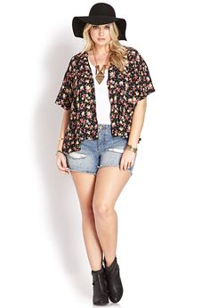 I like the kimono but with this outfit I'd wear a really long one. and cool hat and booties.