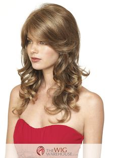 The Brittany wig by Amore is positively bubbling with gorgeous long curls that dance past the shoulders. Sassy layers and ultra-long side swept bangs prove to be thoroughly charming. This is a wig tha