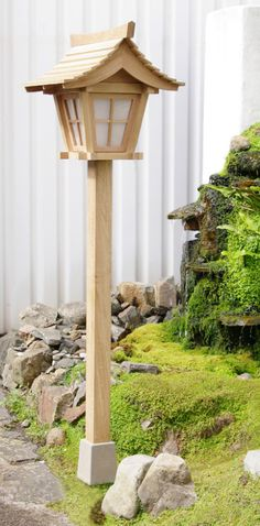 Japanese garden lanterns of traditional style, high quality wooden lanterns in treated oak timber Garden Garden backyard Garden design Garden ideas Garden plants