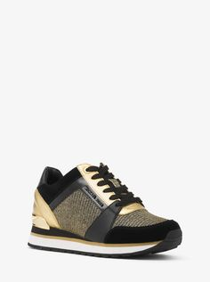 41032aa65152 Billie Chain-Mesh and Leather Sneaker by Michael Kors