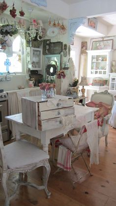shabby chic cupboard by Vintagewhitecottage