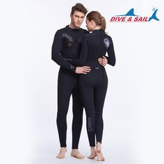 99.78$  Buy here - 3mm women man  neoprene wetsuit, color stitching, Jellyfish clothing,Surf Diving Equipment,long-sleeved piece fitted  #buymethat