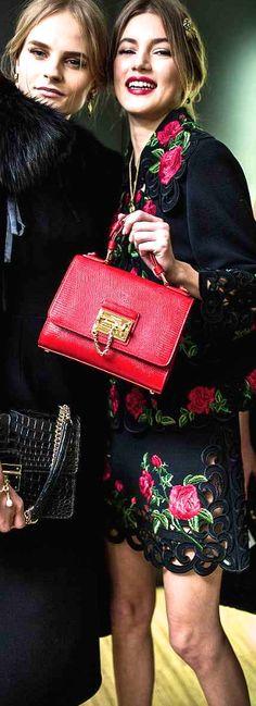 Dolce & Gabbana ~ Red Leather Handbag 2015