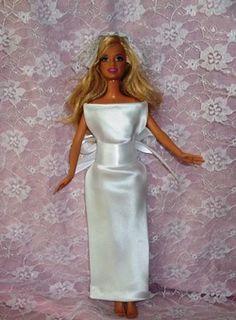 barbie wedding dress from a tie