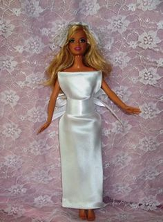 b5972fd30e Make a no sew Barbie wedding dress from a silk tie that is easy to make.