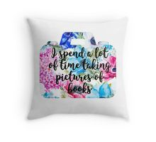 Floral Bookstagram Throw Pillow