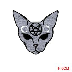 new arrive Extreme Largeness Goth Cat Patch  badge Iron On embroidered backpack biker #Affiliate