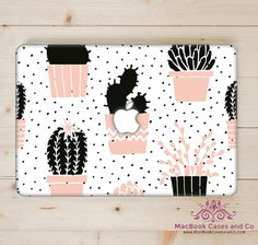 Cactus MacBook Case. MacBook Case. Top (printed) and Bottom (clear) Hard Plastic…