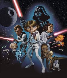 Two of my favorite things... Star Wars and Caricatures