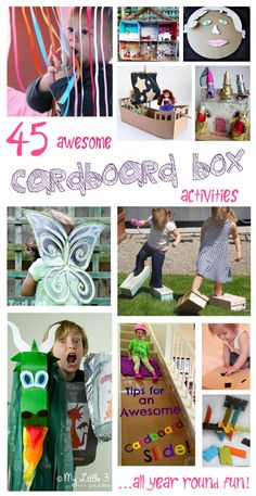 45 Awesome Cardboard Box Activities, Arts and Crafts For Kids For All Year Round Fun!