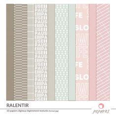 """FREEBIE - kit du mois d'août sur le thème """"ralentir"""": 10 papiers légèrement texturés aux couleurs douces à télécharger dans le paperns corner. Cliquez pour les obtenir!"""