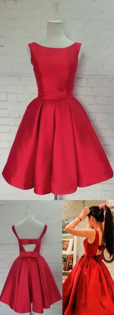 Red Homecoming Dresses, Short Homecoming Dresses, Simple Hot-selling Bateau Satin Short Red Homecoming Dress with Bowknot WF01-27, Homecoming Dresses, Red dresses, Short Dresses, Red Homecoming Dresses, Simple Dresses, Satin dresses, Short Red dresses, Simple Homecoming Dresses, Red Short Dresses, Red Satin dresses, Homecoming Dresses Short, Short Red Homecoming Dresses